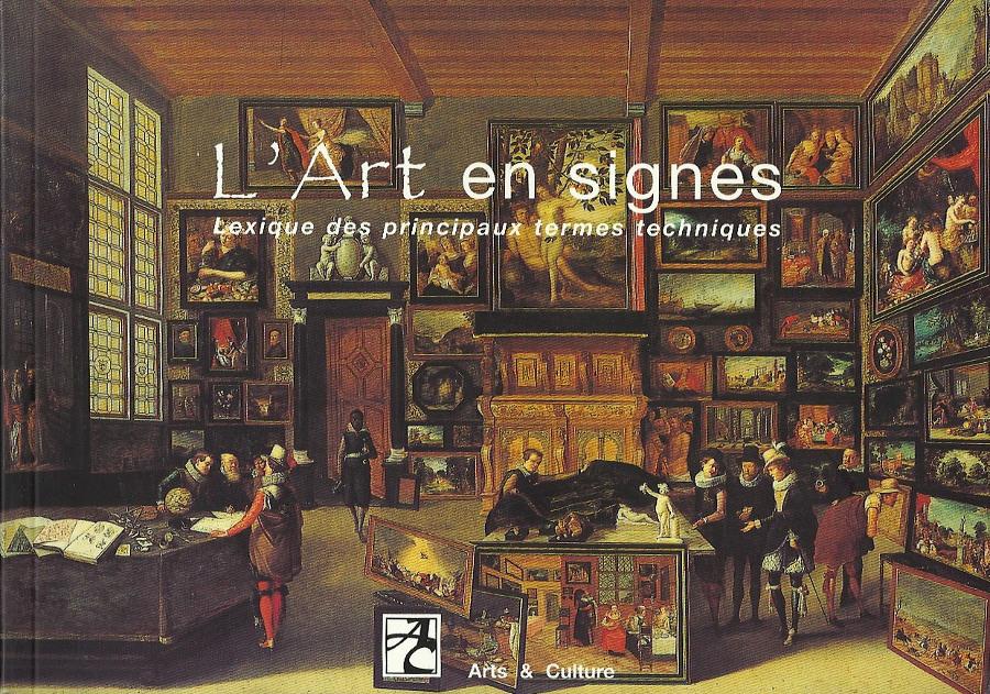 """couverture de notre lexique """"L'Art en signes"""""""